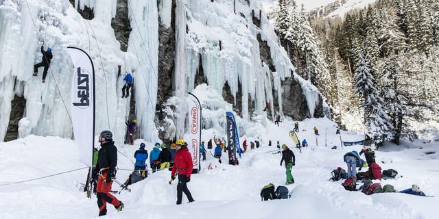 Eiskletterfestival Osttirol. Foto: TVB Osttirol / Ramona Waldner