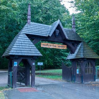 Eingang zum Nationalpark Bialowieza im gleichnamigen Dorf an der polnisch-belarussischen Grenze. Foto: Nadine Ormo