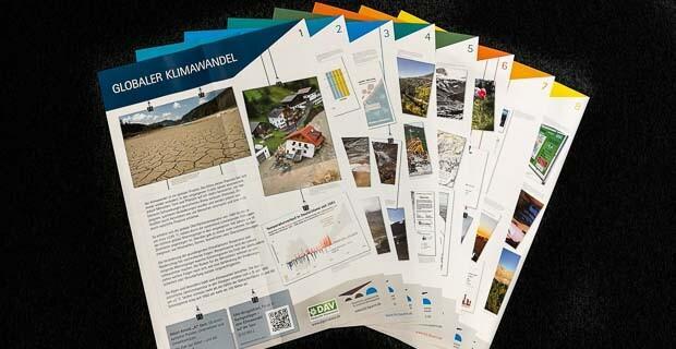 """Plakatserie des DAV und BLZ zum Thema """"Umweltschutz im Alpenraum"""""""