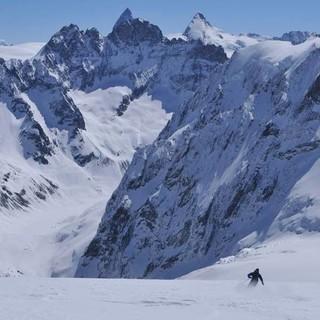 Nicht ablenken lassen: von Matterhorn, Dent d'Hérens und Mont Collon, Foto: Stefan Herbke