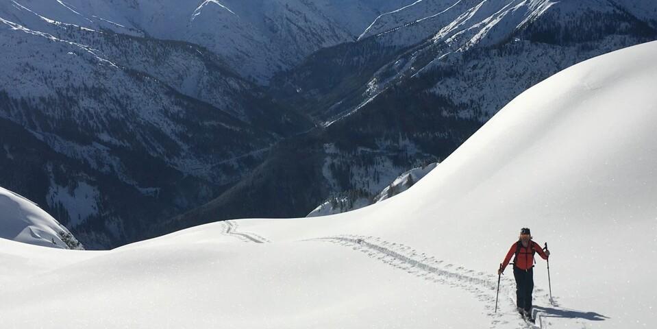 Die Bretterspitze gehört zu den Allgäuer Alpen, wird aber aus dem Lechtal erreicht. Foto: Luis Stitzinger, Alix von Melle