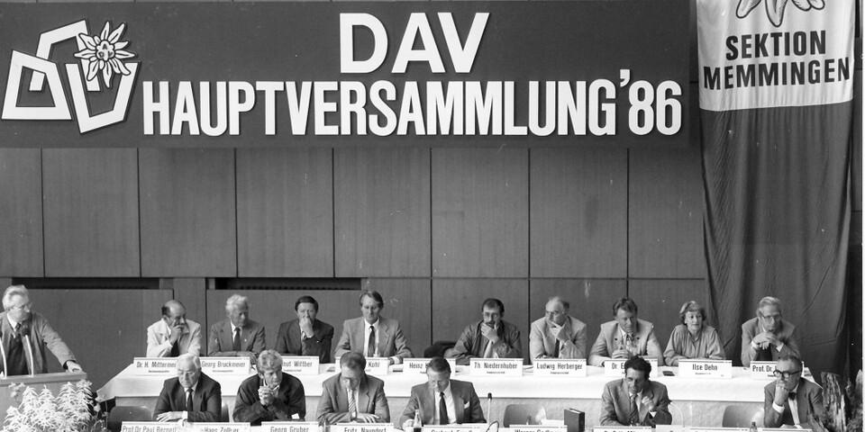 DAV-Hauptversammlung 1986 in Bamberg. Foto: Archiv des DAV, München