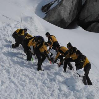 Jährliche Winterrettungsübung der SAC-Rettungsstationen. Foto: zvg Alpine Rettung Schweiz