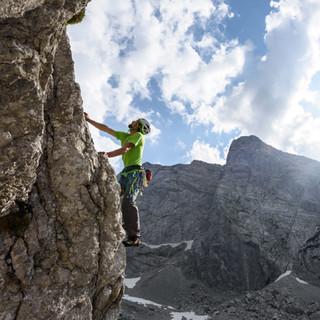 Alpine Plaisirkletterei an der Schärtenspitze (Foto: Wolfgang Ehn)