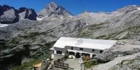 Knorrhütte - Nach dem Gatterl Querung zur Knorrhütte und Weiterweg mit der Reintalroute zum Gipfel.