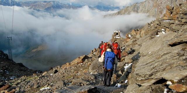 Abstieg auf dem E5, Foto: JDAV/Solveig Michelsen