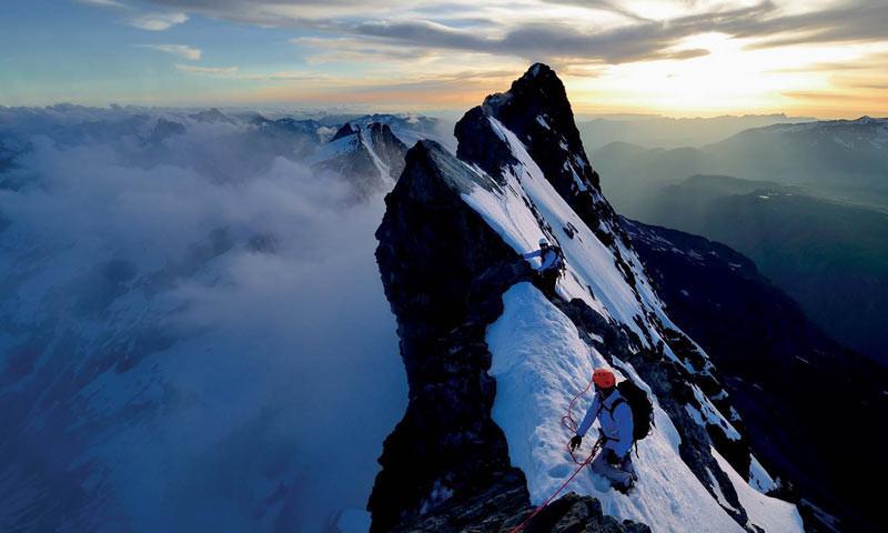 Gipfelgrat der Meije - Am Gipfelgrat der Meije (3983 m), Dauphiné, Frankreich  Foto: Ralf Gantzhorn