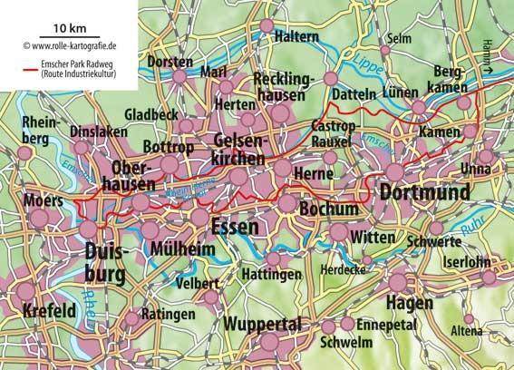 Ruhrgebiet-Touren-Karte