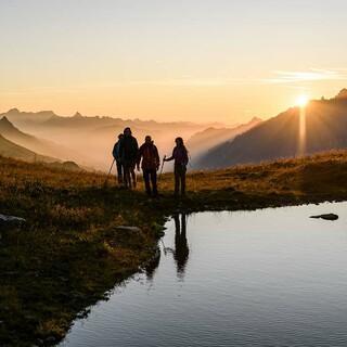 Sonnenuntergang bei Sankt Anton am Arlberg. Foto: Wolfgang Ehn