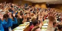 Zustimmung im Plenum, Foto: JDAV/Ben Spengler