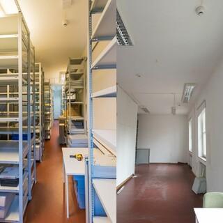 Archivraum vorher/nachher. Foto: DAV/Ulrike Gehrig