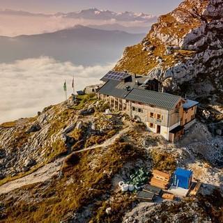 Die Passauer Hütte von oben, Foto: Michael Faber