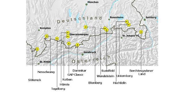Bayerische Skigebiete mit Regelungen für Pistentourengeher