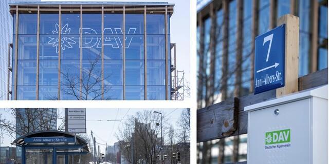 Neue DAV-Adresse: Anni-Albers-Straße 7. Foto: DAV/Nadine Ormo