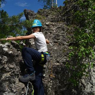 Klettern am Fels, Foto: Kerstin Gerritzen