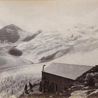 Alte Prager Hütte um 1894, Foto: Johann Unterrainer