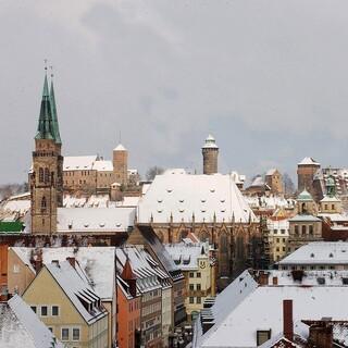 Altstadt Nürnberg mit Kaiserburg im Winter. © Stadt Nürnberg/ Foto: Christine Dierenbach