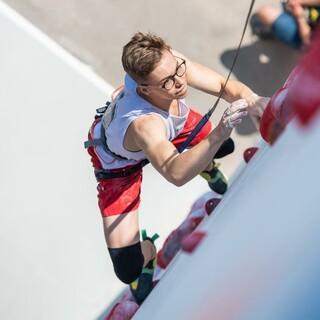 Sebastian Lucke hält aktuell den Deutschen Speed-Rekord; Foto: DAV/Thomas Schermer