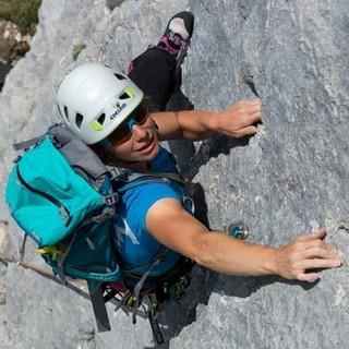 """Geht's noch besser? Kaum. Denn """"Wirklich oben bist du nie"""" hat fast keinen schlechten Meter und tolle Kletterei. Foto: Christian Pfanzelt"""