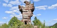 Burg Drachenfels zählt zu den beliebtesten Ausflugszielen im Pfälzerwald. Foto: Günter Kromer
