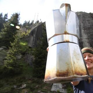 """Fotowettbewerb zum Thema """"Mein Liebstes Bergobjekt"""": Meine Espressokanne. Bild: Annika Schreiber, Konstanz."""