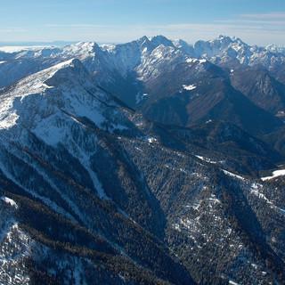 Viel Gebirge rund um das neue Bergsteigerdorf Luce in Slowenien. Foto: TIC Luce