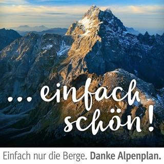"Kampagne ""Danke Alpenplan"". Watzmann. Foto: Jörg Bodenbender"