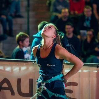 Frederike Fell hat auch dieses Jahr wieder ihr Ziel fest im Blick. Foto: DAV/Thomas Schermer