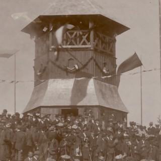 Einweihung des Pavillons auf dem Schwarzen Grat, 1905. Archiv des DAV, München
