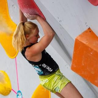 Lucia Dörffel beim BWC München 2018. Foto: DAV/Marco Kost
