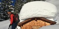 Fette Ladung: Bei so viel gut gesetztem Schnee ist die anspruchsvolle Bretterspitze machbar. Foto: Luis Stitzinger, Alix von Melle