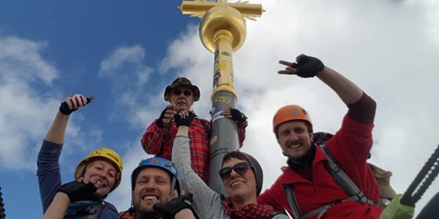 Gipfelglück an der Zugspitze, Foto: Christian Panzer