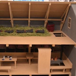 Puppenstube in der Ausstellung: Veranschaulicht wird eine frühe Alpenvereinshütte. Vorbild ist der erste Bau der Olpererhütte von 1885. Foto: Friederike Kaiser