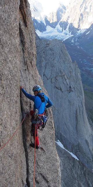 In der steilen Asan Headwall. Foto: NRW-Alpinkader