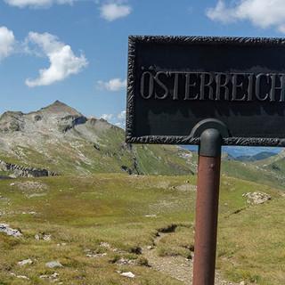 Willkommen in Österreich. Foto: Ute Watzl