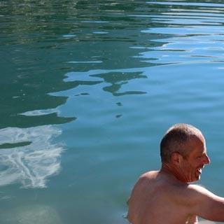 Lac d'Orny - Für die Lieben zuhause. Selfies kann man nie genug haben, zum Beispiel im Lac d'Orny.