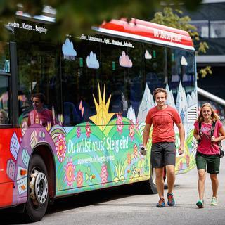Mit dem Bergsteigerbus klimafreundlich unterwegs. Foto: DAV/Marco Kost