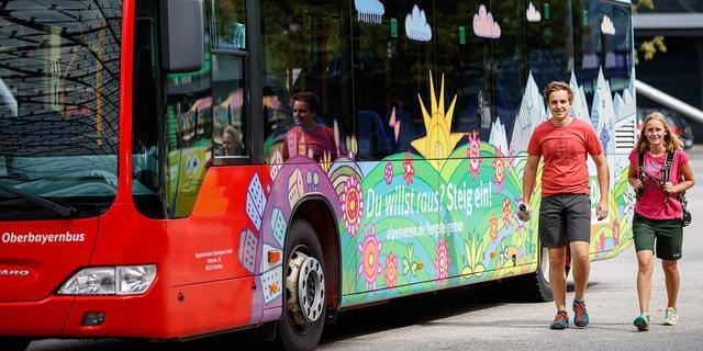 Der Bergsteigerbus des DAV. Foto: DAV/Marco Kost