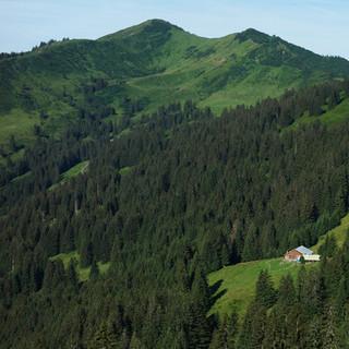 Riedberger Horn, Blick von Osten