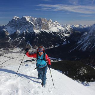Am gestrigen Mittwoch war der Grubigstein mit Ski gut möglich. Foto: M. Pröttel
