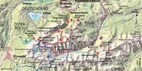 Karte - Ehrwalder Alm Route B. Karte Copyright Christian Rolle.