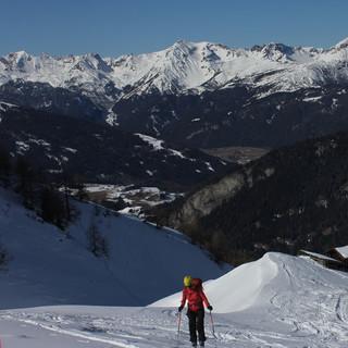 Auf diesem Bild vom vergangenen Wochenende kommt die Schneesituation in den Brennerbergen gut zum Ausdruck.