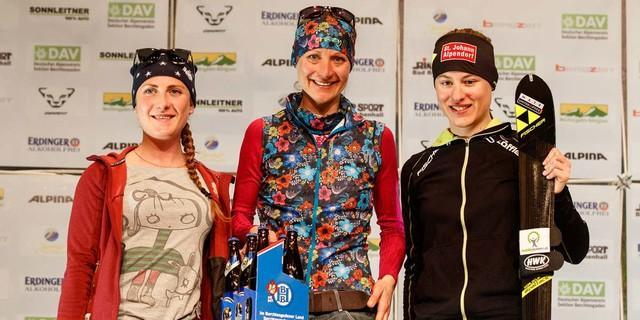 Internationales Podium - das Individual der Damen gewinnt von Borstel (DE) vor Theocharis (IT) und Forchthammer (AT). Foto: Marco Kost