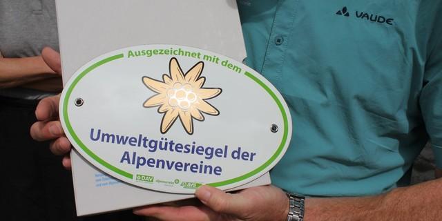 Siegel für den Umweltschutz, Foto: DAV-Archiv