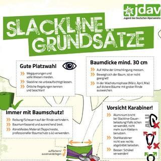 JDAV Slackline-Flyer Titel
