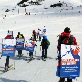 """Aufstieg """"by fair means"""": Mountain Wilderness unterwegs zur Gipfelstation, Foto: Mountain Wilderness"""