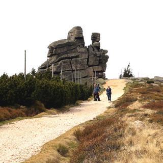 Sichtbar gereift sind die Felsen am Reifträger – sie tragen's mit Fassung. Foto: Swen Geißler