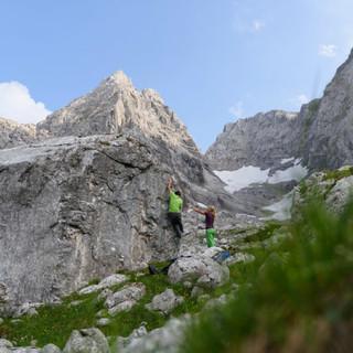 Sanfte Tourismusformen brauchen unberührte Natur, hier im Blaueiskar im Bergsteigerdorf Ramsau. Foto: Wolfgang Ehn
