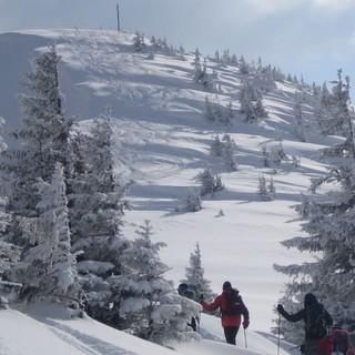 Das Riedberger Horn ist beliebt bei Skitourengehern