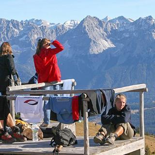 Gipfelpanorama am Wank. Foto: Michael Pröttel